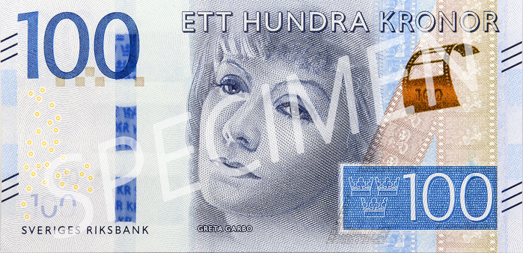 Den nya 100 kronorssedelns framsida