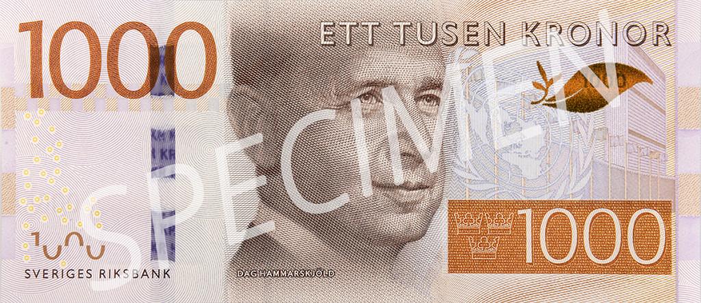 Den nya 1000 kronorssedelns framsida