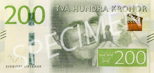 Den nya 200 kronorssedelns framsida