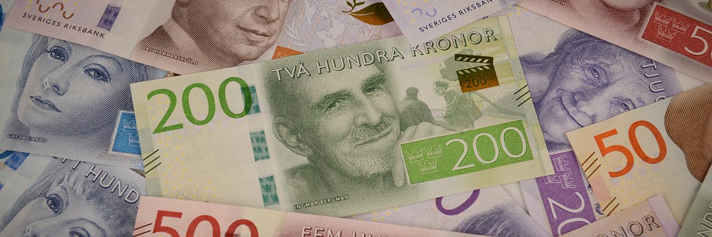 Den nya 200 kronorssedeln pryds av Ingmar Bergman