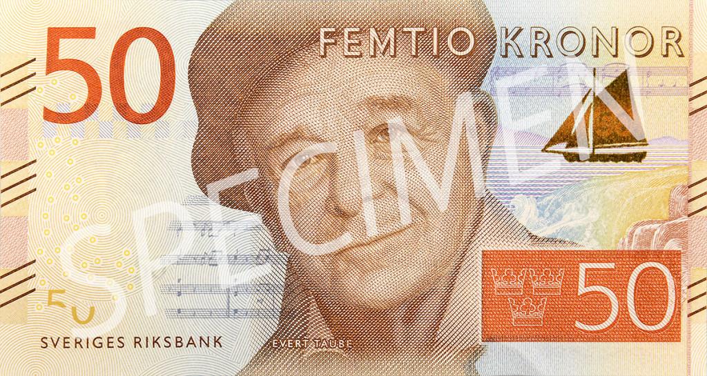 Den nya 50 kronorssedelns framsida
