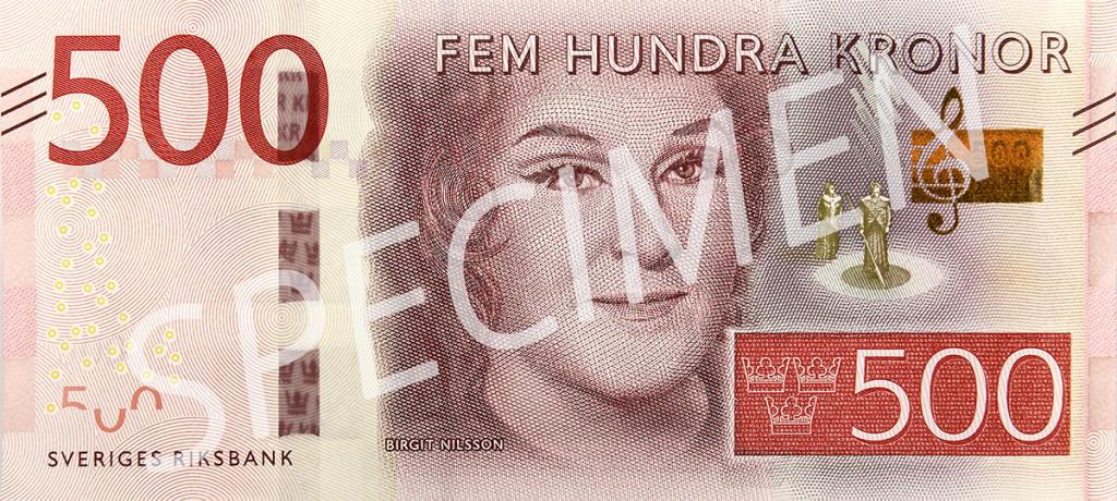 Den nya 500 kronorssedelns framsida