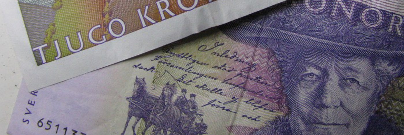 På den gamla 20 kronorssedeln hittar vi Selma Lagerlöf