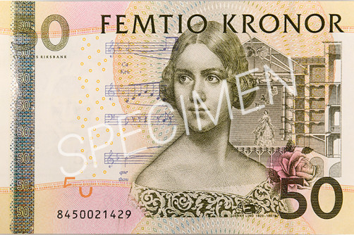 Den gamla 50 kronorssedelns framsida